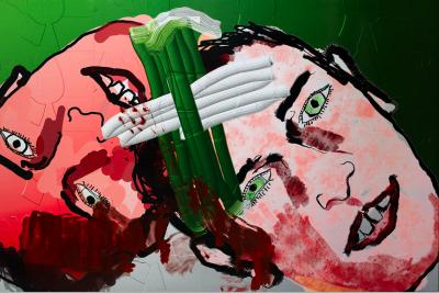 Artificial Painting von Florian Etti, Doppelportrait