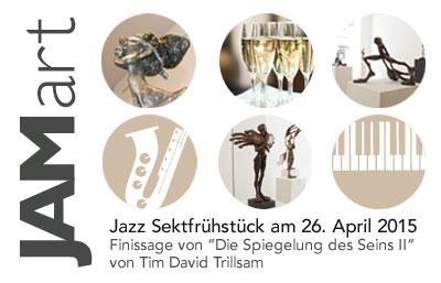 JAMart Jazz Sektfrühstück im Rahmen der Ausstellung DIE SPIEGELUNG DES SEINS II von TIM DAVID TRILLSAM bei MuniqueART