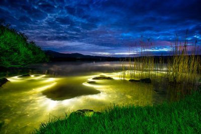 Lake Monster // Lightpainting, Kochelsee, 2015, Gallery Print, 140 x 200 cm, 3.500.-