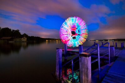 Swirly Lake // Lightpainting, Kochelsee, 2015, Fine Art Print 30 x 45 cm, 250,-