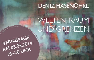 Vernissage der Ausstellung WELTEN, RAUM und GRENZEN von Deniz Hasenöhrl bei MuniqueART
